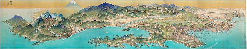 神奈川県鳥瞰図