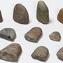 今月の逸品のご紹介「縄文時代早期の「スタンプ形石器」と「礫斧(れきふ)」」