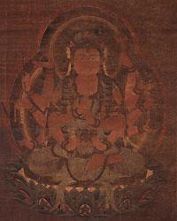 絹本著色大勝金剛像(部分) 鎌倉時代