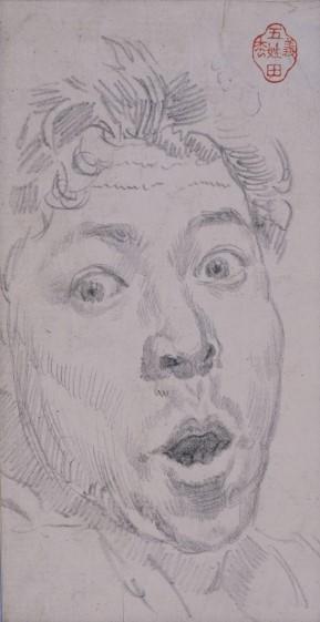驚きの表情の描写