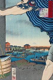 武蔵百景之内 江戸ばしより日本橋の景