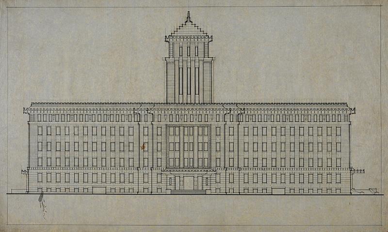 重要文化財「神奈川県庁舎」附指定の建築図面
