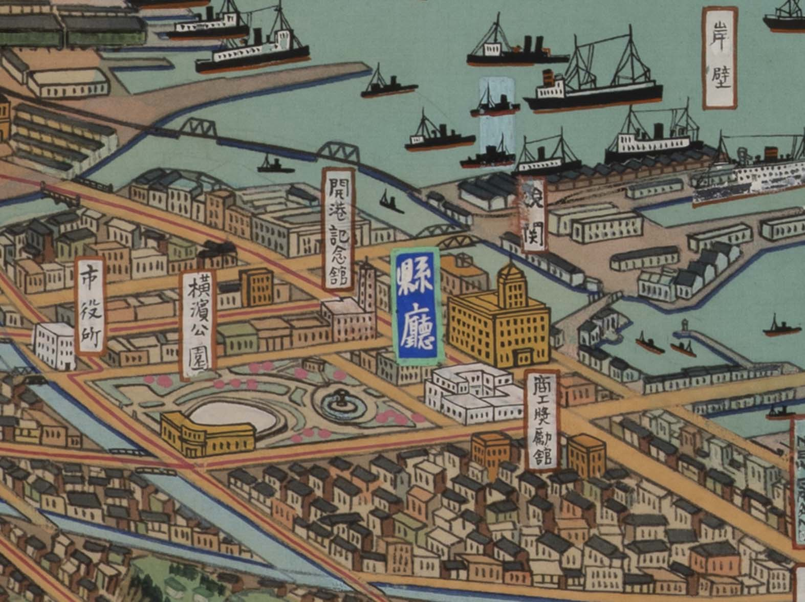 神奈川県鳥瞰図(部分)