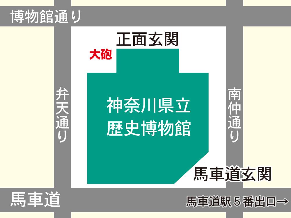 大砲の位置の地図