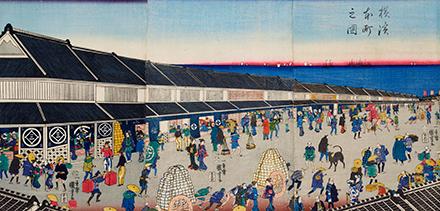 歌川国芳 横浜本町之図 川崎・砂子の里資料館蔵